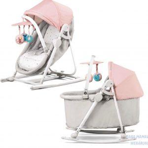 Kinderkraft Unimo 5in1 Pihenőszék rózsaszín-szürke