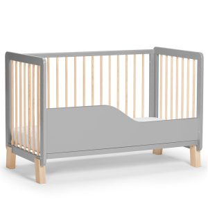Kinderkraft Lunky kiságy matraccal szürke