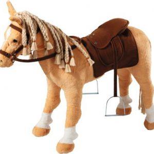 Nagyméretű  hangot adó plüss ló