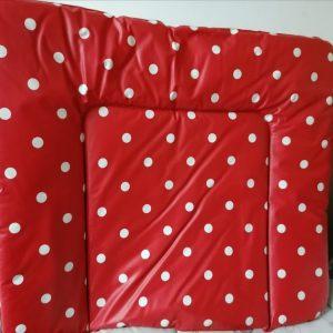 Pinolino piros-fehér pöttyös pelenkázólap