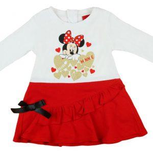Disney Minnie hosszú ujjú lányka ruha alul fekete masnis
