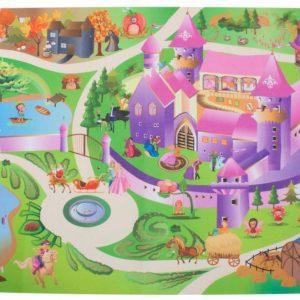 Sun Baby játszószőnyeg autókkal-kastély 120×80 cm