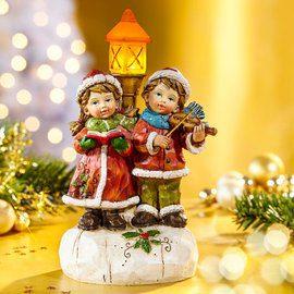 Karácsonyi világító dísz led lámpással