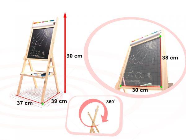 Mágneses rajztábla + papír