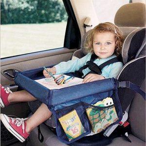 Gyerekülésre csatolható autóstálca kék