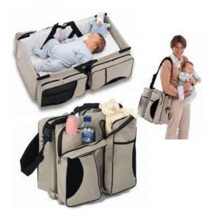 Hordozható babaágy,táska és pelenkázó egyben