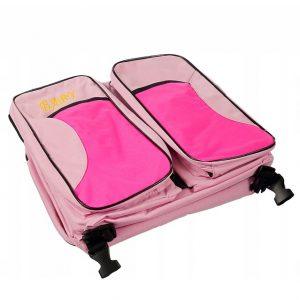 Hordozható babaágy,táska és pelenkázó egyben rózsaszín CT