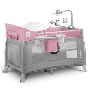 Lionelo Thomi  multifunkciós utazóágy- Pink Baby