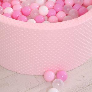 BabyLion Prémium labdamedence Minky – Rózsaszín-fehér