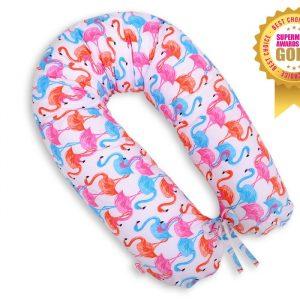BabyLion Prémium szoptatós párna – Flamingó
