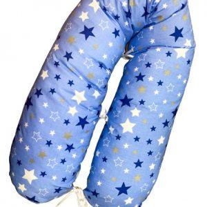 Babylion szoptatós párna kék alapon kék csillagok