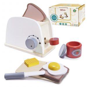 Fa játék kenyérpirító kiegészítőkkel
