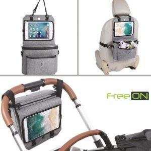 FreeON 3in1 Ipad tartó autóba és babakocsira – szürke