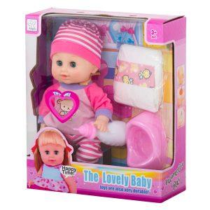 Pisilős baba kiegészítőkkel