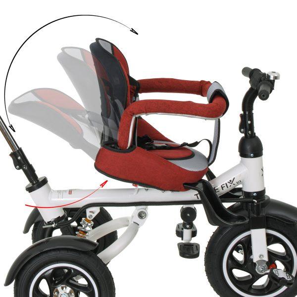 Trike Fix V3  megfordítható üléssel , dönthető háttámlával piros