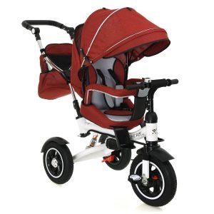 Trike Fix V3  megfordító üléssel , dönthető háttámlával piros