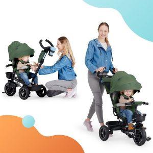 KinderKraft SPINSTEP 5 az 1-ben tricikli zöld