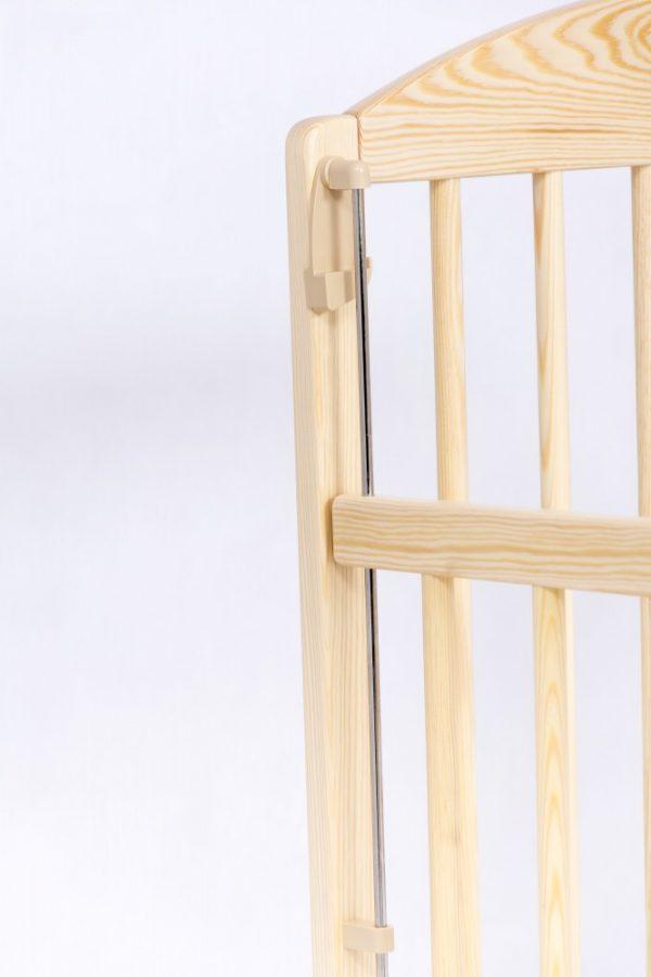 Drewex Kuba II Standard kiságy 60×120 leereszthető oldallal-Natural Pine