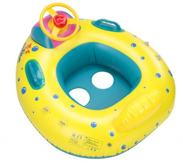 Gyermek felfújható csónak tetővel 65x73cm