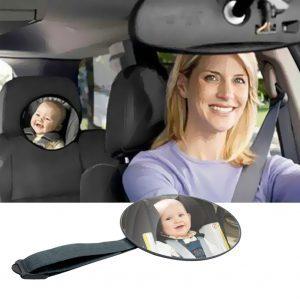 Baba-visszapillantó tükör autóba