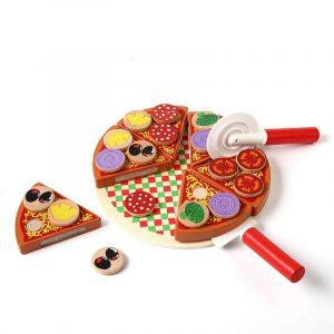 Pizza fa játékkészlet kiegészítőkkel